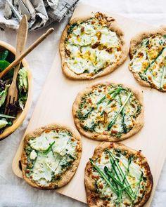 spring-inspired spelt crust pizzas // brooklyn supper + @mirassouwinery #Mirassou #Ad