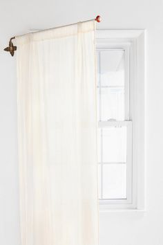 Swing Curtain Rod...great idea for letting light into a room and at night, close for privacy!