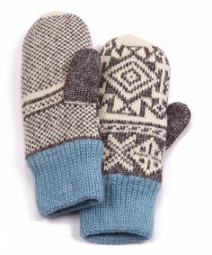 Take a look at this Gray North American Button Mittens - Women by MUK LUKS on #zulily today!