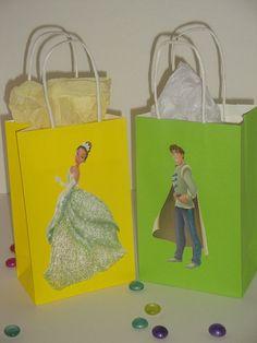 10 Disney Princess Tiana Party Favor Bags by PrettyPrincessCraft