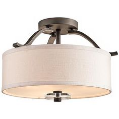 """Kichler Leighton Collection 16"""" Wide Ceiling Light Fixture"""