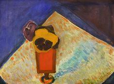 Albert Pfister  Stillleben mit Stiefmütterchen , 1975 Painting, Art, Switzerland, Still Life, Auction, Art Production, Painting Art, Art Background, Kunst