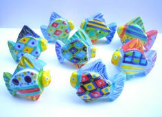 Ceramic Fish Knob Drawer Pull Handle Cabinet by PeachBlossomStudio, $15.00