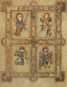 The Book of Kells also known as the book of Colombia, it is an illuminated manuscript, containing four gospels of the new testament with various prefatory texts and tables. Medieval Manuscript, Medieval Art, Illuminated Manuscript, Illuminated Letters, Book Of Kells, Arte Latina, Eslava, Four Gospels, Irish Art