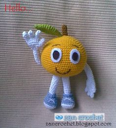 "The Orange ""Si Jeruk"" ~ Zan Crochet, free pattern, pdf saved Crochet Fairy, Crochet Ball, Crochet Food, Free Crochet, Crochet Toys Patterns, Amigurumi Patterns, Stuffed Toys Patterns, Crochet Dinosaur, Crochet Amigurumi"