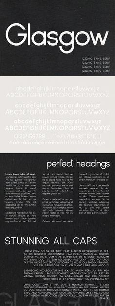 Glasgow | An Iconic Sans Serif - Sans Serif             #font #typeface #typegang #typespire #typematters #type #fontdesign #typography #graphicdesign #typographyinspire #handmadefont #creativemarket #ad