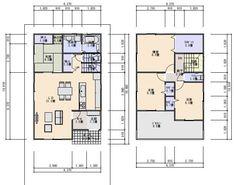 33坪の間取り 南入り3.5間間口4LDK Craftsman Floor Plans, One Bed, House Plans, Flooring, How To Plan, Mansions, Luxury, Architecture, Home Decor