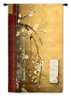Oriental Blossoms III Wall Tapestry by Don Li-Leger at Art.com