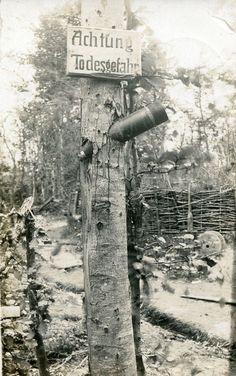 """Señal de """"Peligro"""" durante la Primera Guerra Mundial.:"""