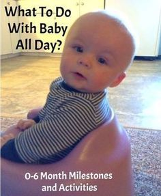 Baby Activities for new mom, what to do at home all day with 0-6 month old baby. Milestones and infant development