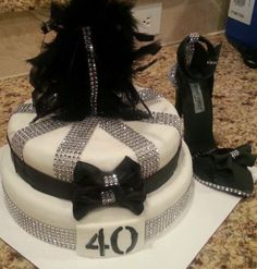 40 and Fab- Bling Cake