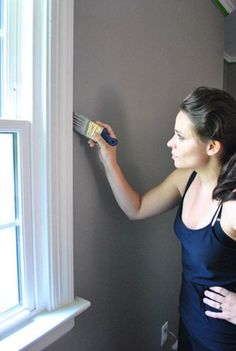Gorgeous paint colour - Benjamin Moore Rockport Gray