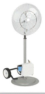 24 Oscillating High Velocity Misting Fan With Mid Or Pressure Pump Mists
