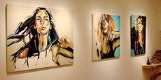 ANNA BOCEK/ Canfin Gallery, NY, 2015 Potrait Painting, Abstract Portrait, Portrait Art, Painting & Drawing, Portraits, Ap Studio Art, Paint Designs, Face Art, Art Techniques
