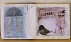 soft, nature inspired journal pages from Roxanne Evans Stout