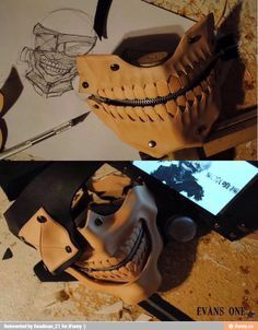 Tokyo Ghoul - Kaneki's mask. I wish I could be talented enough to make it.
