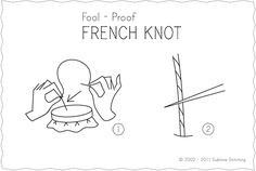 french knot step-by-step...