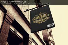 Hanging Signboards Mockups by shrdesign on @creativemarket