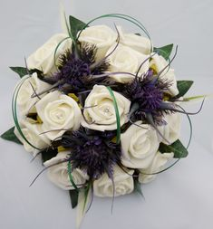 purple and cream wedding flowers - Google Search