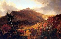 Schroon Mountain, Adirondacks - Thomas Cole 1838 Romanticism. Grandiose treatment of American wilderness