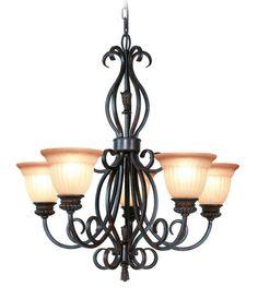 Woodbridge Lighting Fairhaven 5-light Restoration Bronze Chandelier