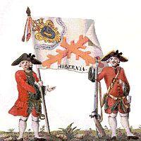 On April 1812 - The Hibernia regiment of Spain and Napoleon's Irish Legion face each other at Badajoz during the Peninsular War. Old Irish, Irish Celtic, Irish Men, Irish Free State, The Wild Geese, Southern Ireland, Irish Warrior, Irish Language, Book Of Kells