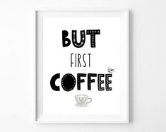 "Ahh..yeah! I'll do the thing, but first coffee please! If you are one of these people who need their coffee first,this floral printable wall art with the quote ""But first coffee"", is a sweet morning friend :) Feel free to print it as many times as you wish, and gift it to coffee lover friends. It is a great gift for birthdays, gift for mother, gift for colleague, gift for best friend and for everyone! By borbollo.com Office Interior Design, Home Office Decor, Office Interiors, Home Decor, Gifts For Colleagues, Floral Printables, Coffee Signs, But First Coffee, Best Friend Gifts"