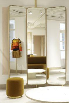 Gorgeous, tri-fold mirror I would want for my dream closet. CTM_02_JOSEPH DIRAND