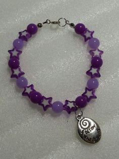 "bracciale purple stars ""follow your dreams"""