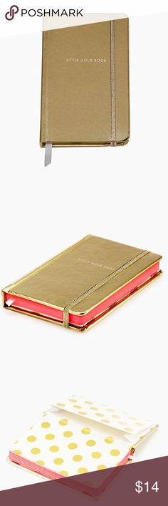 Kate Spade little gold book Kate Spade take note medium notebook little gold book. Brand new kate spade Accessories