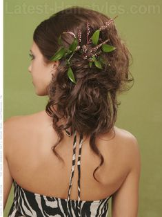 Sweet Side Curls for Prom Back View: Adorable!!!