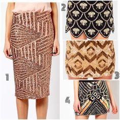 Art Deco + Sequin skirts!