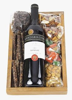 Red Wine, Chocs, Nuts and Biltong Striped Walls Nursery, Wine Hampers, Pamper Hamper, Biltong, Diy Spa, Spa Gifts, Homemade Gifts, Gift Baskets, Personalized Gifts