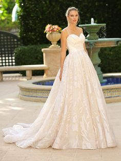 The Silver Springs Collection by Randy Fenoli includes wedding dresses designed for brides wanting to make a statement. With classic ball gowns, beautiful beading and unique details there is a bridal dress for every bride. Classy Wedding Dress, Wedding Dresses With Straps, Fall Wedding Dresses, Wedding Dress Sleeves, Long Sleeve Wedding, Wedding Suits, Designer Wedding Dresses, Bridal Dresses, Wedding Gowns