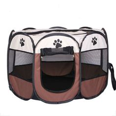Portable Cat Dog House Pet Cage Supplies Dog Cat Carrier House Fold Dog Cat Fence Kennel Outdoor Cat House Playpen Exercise // Worldwide FREE Shipping //     #petsupplies