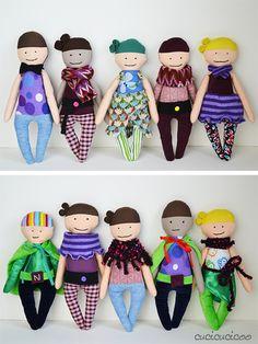 Perfettamente Imperfetta: recensione del cartamodello per bambola di stoffa | www. cucicucicoo.com