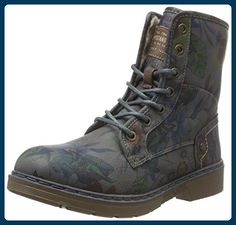 Mustang Damen 1235-605-226 Biker Boots, Grau (226 Dunkelgrau/Multi), 37 EU - Stiefel für frauen (*Partner-Link)