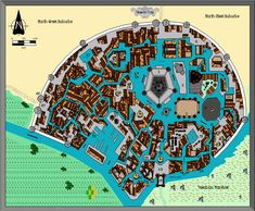 Image result for fantasy canal city Fantasy City, Dnd Characters, Cartography, City Photo, Minecraft, Layouts, Image, Inspiration, Rpg
