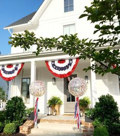 Patriotic Balloons for 4th of July. Confetti Balloons. Red, White and Blue.