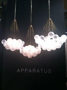 #ICFF Finds: cloud lighting by Apparatus