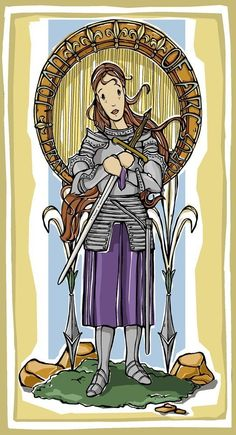 St Joan of Arc Prayer Card by ModHMary on Etsy