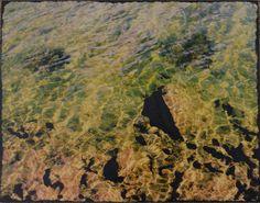 Rocks Under Water Green Brown Black Photo by PixelPaintbrush, $125.00
