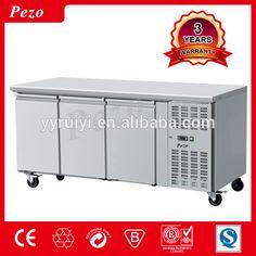 3 door stainless steel under counter freezer,417L Restauratnt Commercial Kitchen counter chiller