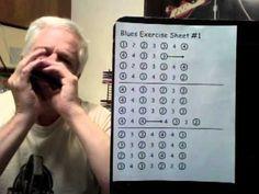 Beginner Harmonica lessons: Blue Exercise Sheet 01 - http://www.blog.howtoplaytheharmonica.org/harmonica-lessons/beginner-harmonica-lessons-blue-exercise-sheet-01