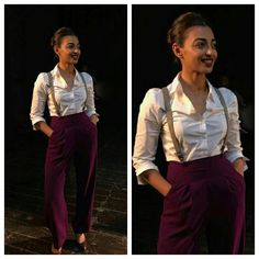 Radhika Apte wearing high waist pants with suspenders