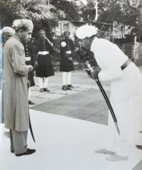 Rajadhiraj Shri Hemendra Singh Sahib of Banera with HH Maharana Shri Bhagwat Singh Sahib Hindua Suraj Hindupati of Udaipur-Mewar. Titanic Behind The Scenes, Delhi Durbar, Gir Forest, Vallabhbhai Patel, Hunting Party, Udaipur, British Actresses, Royal Weddings, King George