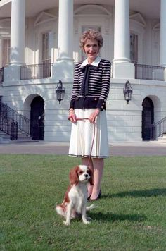 Nancy Reagan and Rex. cavalier king charles