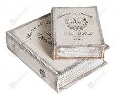 Box in a shape of a book - one can use it as a gift paskage or as an oryginal decoration in your home.