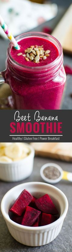 Banana Breakfast Smoothie Try this vibrant pink beet banana smoothie to fall in love with raw beets.Try this vibrant pink beet banana smoothie to fall in love with raw beets. Smoothies Banane, Smoothies Vegan, Beet Smoothie, Diet Smoothie Recipes, Smoothie Drinks, Nutribullet Recipes, Smoothies With Beets, Detox Drinks, Pink Smoothie Recipe