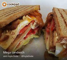 Mega sandwich Mega Sandwich, Sandwiches, Food, Essen, Meals, Paninis, Yemek, Eten